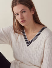 Cable Knit Sweater : All Selection color Ecru