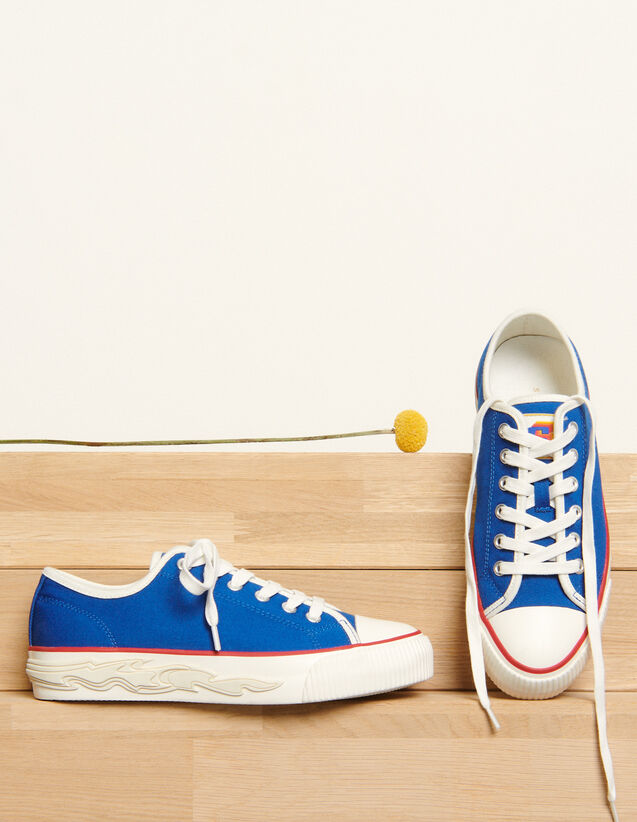 Canvas trainers with flame sole : Trainers color Blue