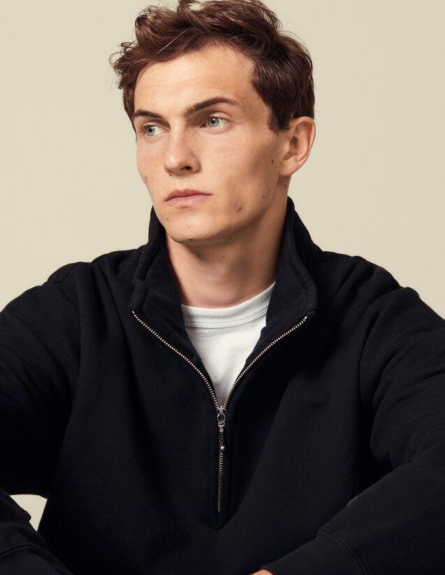 Trucker-Style Sweatshirt : Sweatshirts color Black