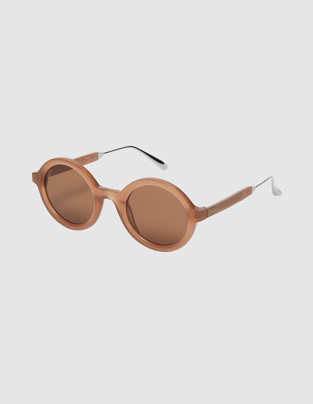 Round Sunglasses : Sunglasses color Caramel