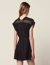 Sleeveless Playsuit : null color Black