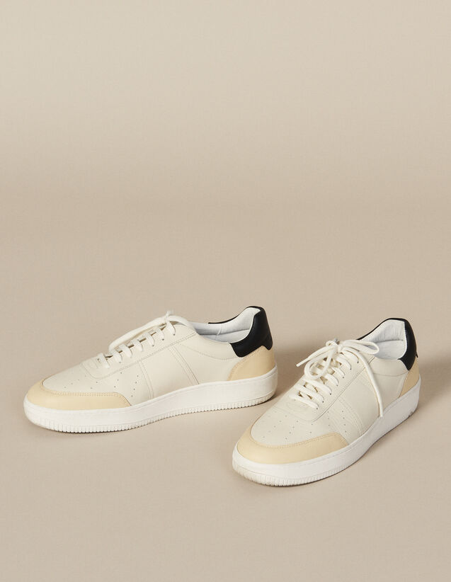 Leather Trainers : All Winter collection color White And Black